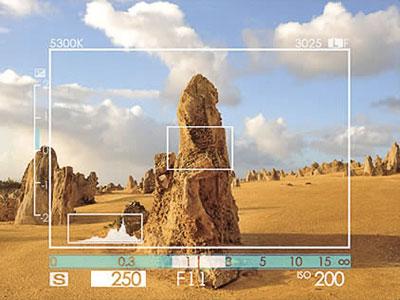 Visione del mirino ibrido della Fuji FinePix X100