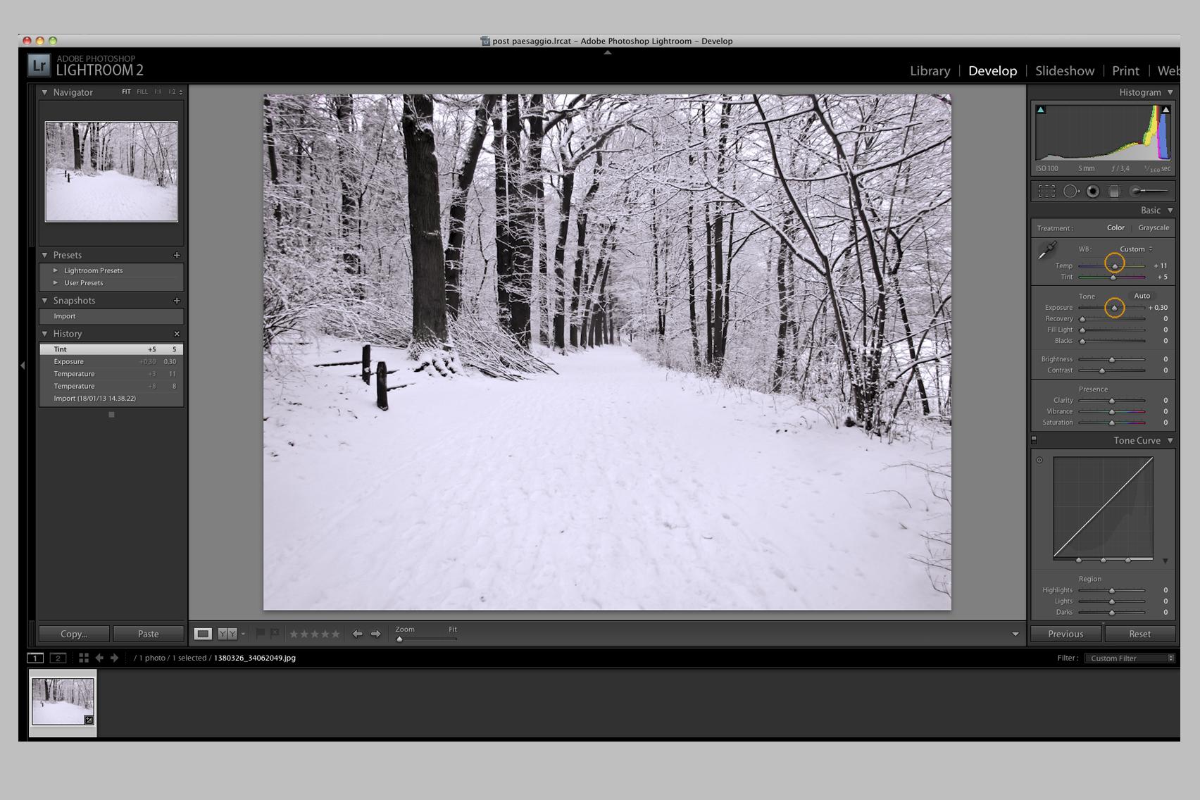 Fotografare la neve