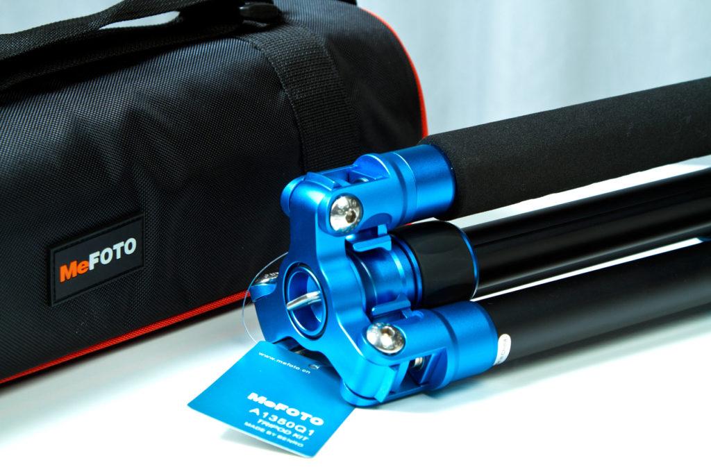 MeFOTO - Cavalletto A1350Q1 Blu con borsa per il trasporto