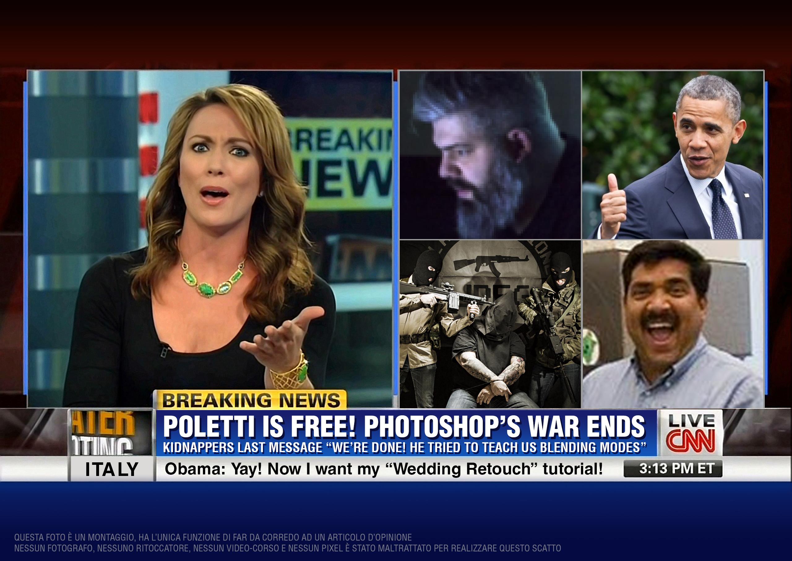 Finalmente libero! Non ne potevano più di sentirmi parlare di Photoshop!