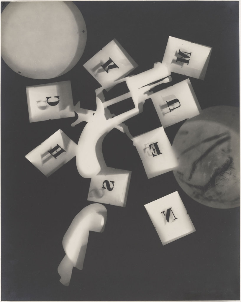 """Gun with Alphabet Squares"" © Man Ray"