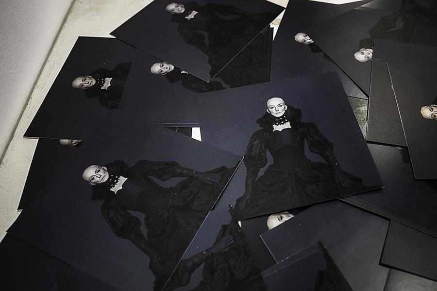 Drusilla sulle cartoline della mostra