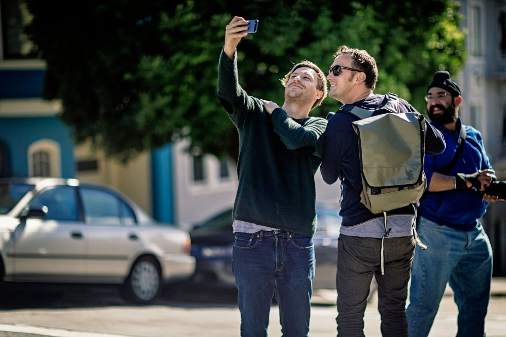 Selfie in progress per Flo (CEO di EyeEm) e Markus (Product Manager USA)