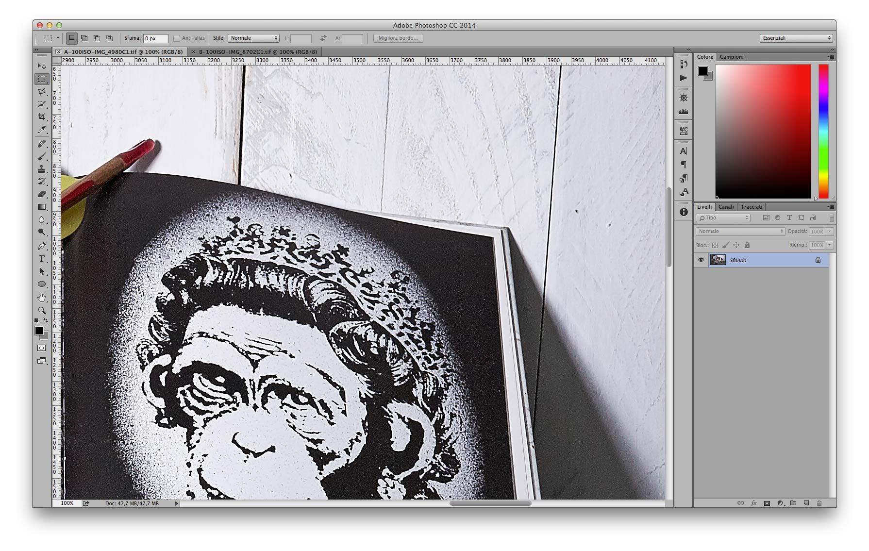 Dettaglio Alte Luci - A 35mm f/11 100 ISO Recuperati +2EV in sviluppo