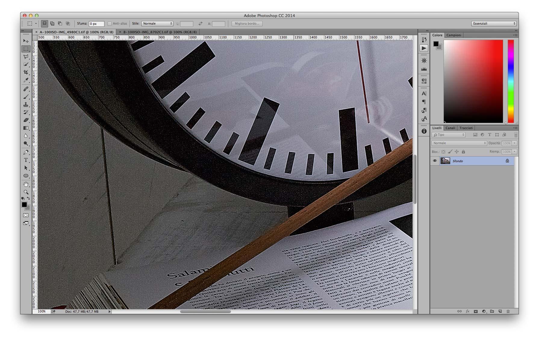 Dettaglio Ombre - A 35mm f/11 100 ISO Recuperati +2EV in sviluppo