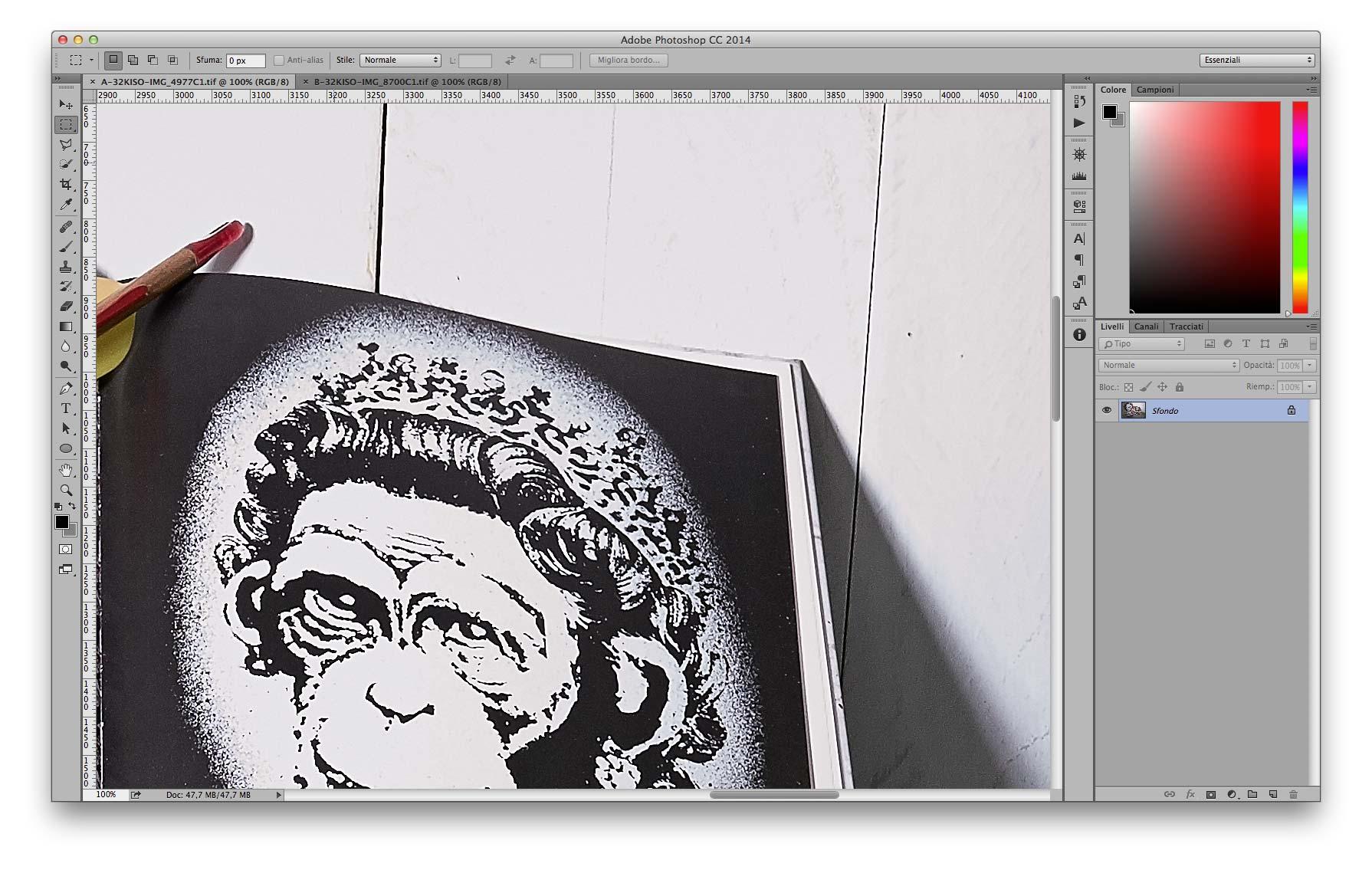 Dettaglio Alte Luci - A 35mm f/11 3200 ISO Recuperati -2EV in sviluppo