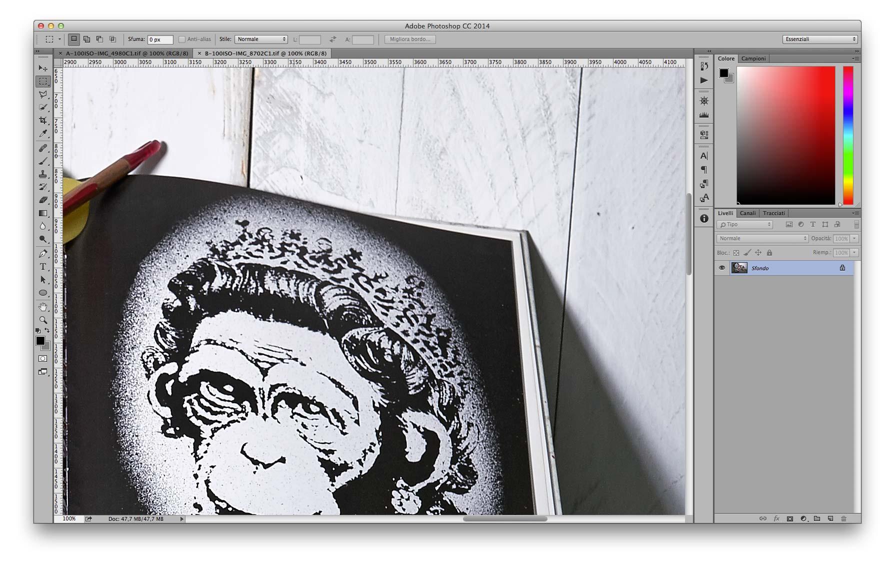 Dettaglio Alte Luci - B 35mm f/11 100 ISO Recuperati +2EV in sviluppo