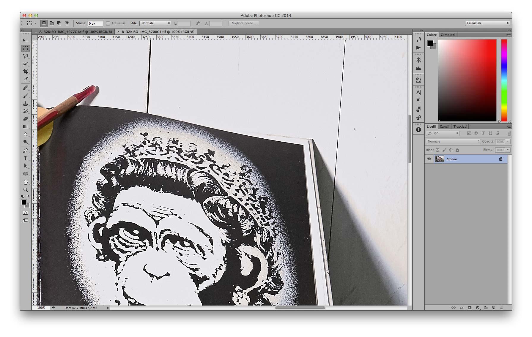 Dettaglio Alte Luci - B 35mm f/11 3200 ISO Recuperati -2EV in sviluppo