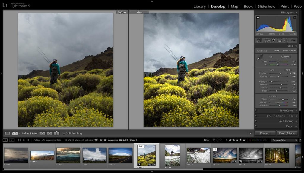 L'interfaccia di Lightroom (da Photographylife)