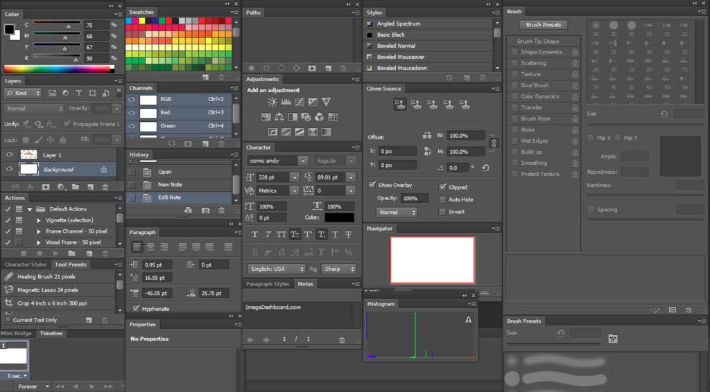 I pannelli di Photoshop: tanti strumenti, tanta potenza.