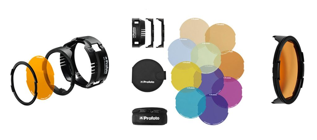 101037 - OCF Color Gel Starter Kit (dotazione ed esploso del sistema di aggancio)