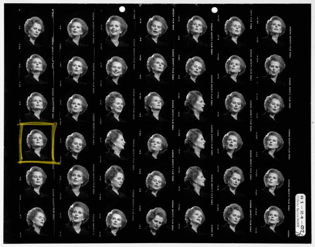 Solo una può essere scelte (Margaret Thatcher. Blackpool, England. 1981. Contact Sheet © Peter Parlow / Magnum)
