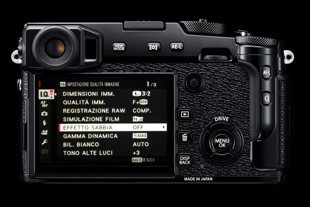 FujiFilm X-Pro2 - Menu Effetto Sabbia