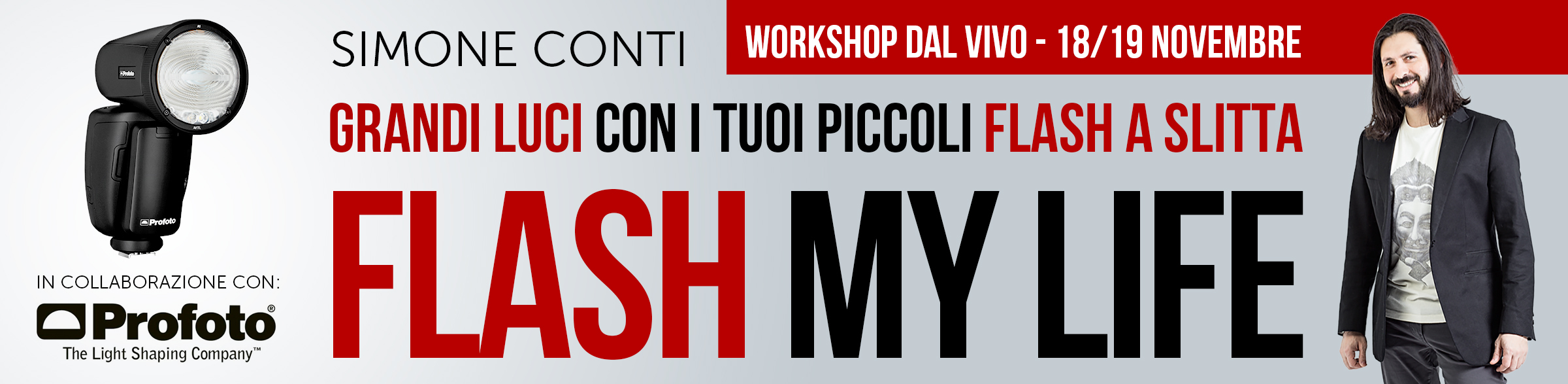 """Flash My Life"" - Workshop di FotografiaProfessionale.it in collaborazione con Profoto"
