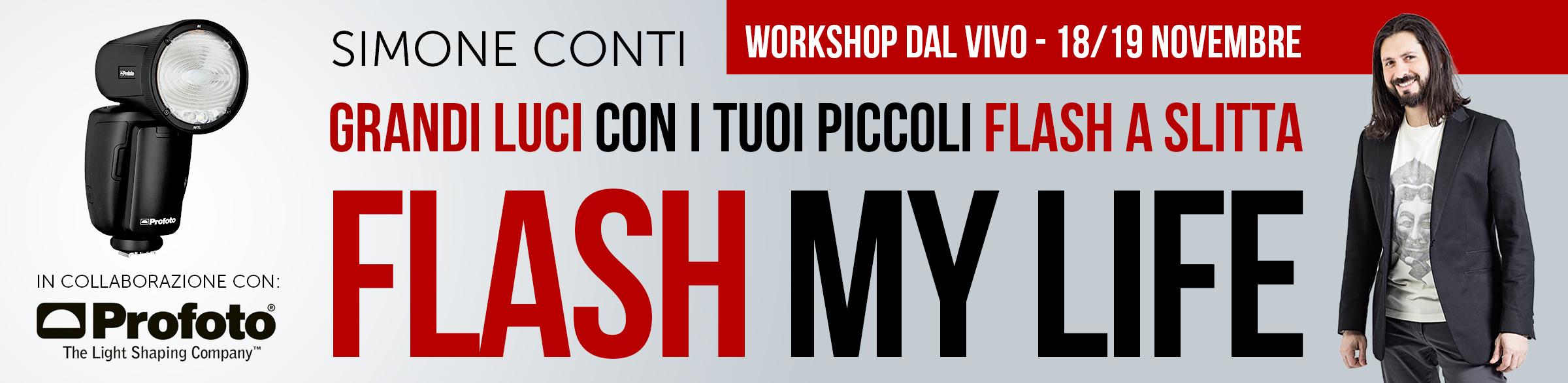 """""""Flash My Life"""" - Workshop di FotografiaProfessionale.it in collaborazione con Profoto"""