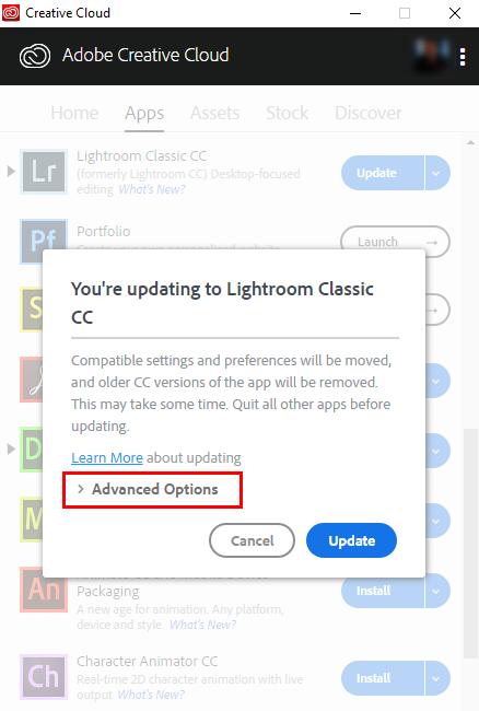 Lightroom 6/CC Opzioni Avanzate