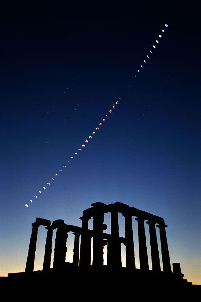 Esempio di come utilizzare il grandangolare per la tua eclissi di luna