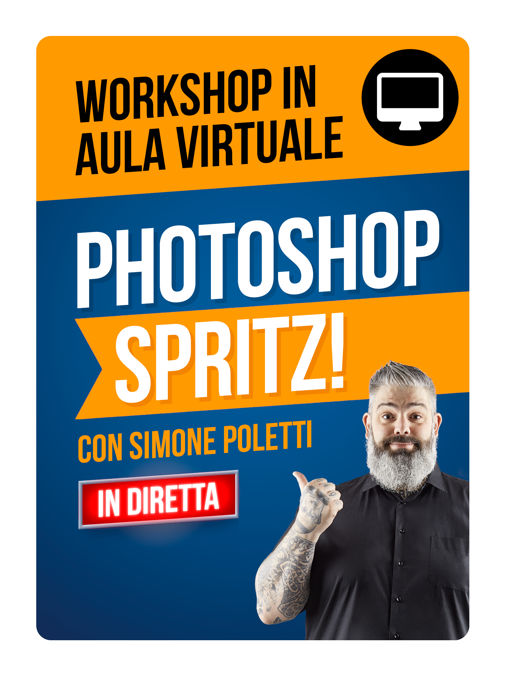 Workshop Photoshop SPRITZ! in Aula Virtuale